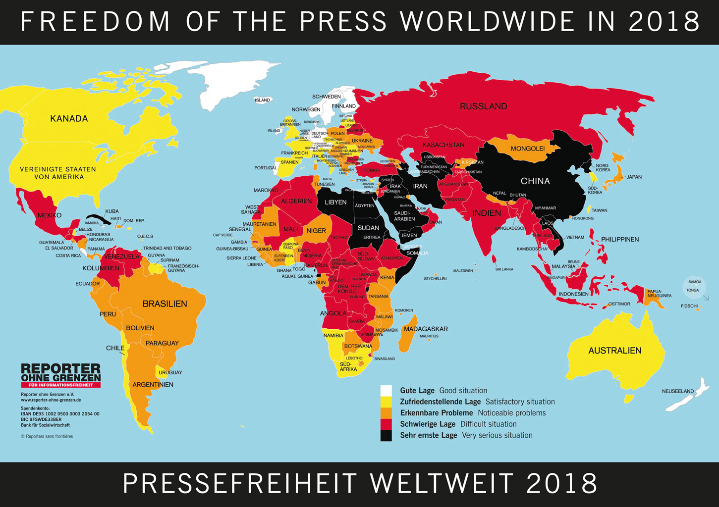 Syrien Karte Aktuell 2018.Rangliste 2018 Reporter Ohne Grenzen Fur Informationsfreiheit